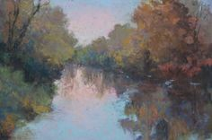 """""""Two Friends-New Journeys in Painting"""" pastels exhibit by PJ Aduskevicz and Olya Powzaniuk is on display during the month of August. Ptg. above by PJ Aduskevicz."""