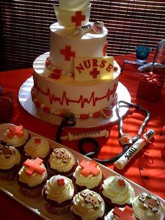 Great cake idea for a Nurse's Graduation!