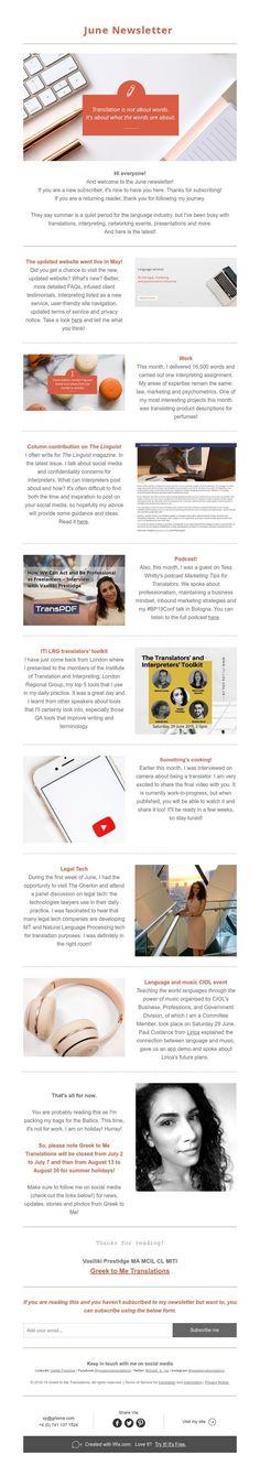 June Newsletter News Blog, Presentation, Greek, June, Greece