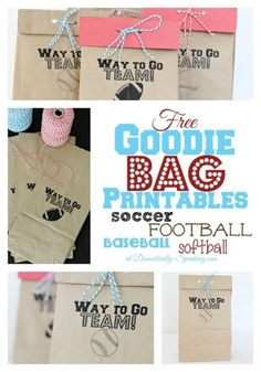 Brown Paper Bag Printable: Goodies Bags - bags wholesale, black and red bag, bags leather sale *ad