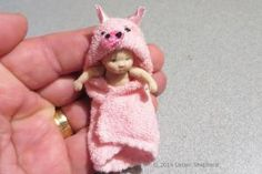 Make Custom Doll Clothes and Shoes To Fit Any Doll: Make a Hooded Towel for a Baby or Toddler Doll