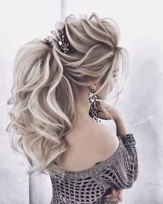 diy ponytail hairstyle ideas for you 81 Ponytail Hairstyles, Bride Hairstyles, Hairstyle Ideas, Peinado Updo, Wedding Hair Down, Pinterest Hair, Green Hair, Hair Designs, Hair Trends