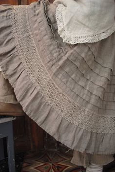 shorten and add ruffle at the same time