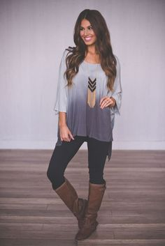 Grey Ombre Tunic