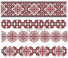 Illustration of there is a scheme of ukrainian pattern for embroidery vector art, clipart and stock vectors. Royalty Free Images, Royalty Free Stock Photos, Beading Tutorials, Pattern Art, Vector Art, Bohemian Rug, Projects To Try, Cross Stitch, Clip Art