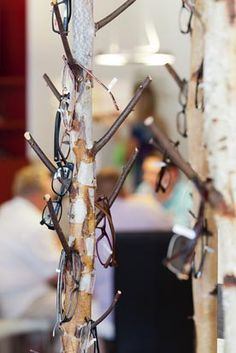Brillenhalter für bis zu 7 Brillen Holz in Shabby-Look San Francisco