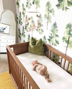 Any Boy Mamas out there? What are your favorite ways to create a dreamy baby boy nursery? 🌲 📸: @laurens.lightenedlife Baby Room Boy, Baby Room Decor, Baby Baby, Forest Nursery, Woodland Nursery Decor, Woodland Room, Baby Room Design, Nursery Design, Baby Boy Nurseries