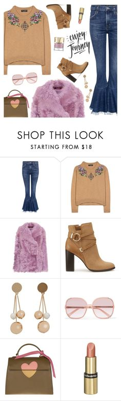 """Outfit of the Day"" by sproetje ❤ liked on Polyvore featuring Citizens of Humanity, Dolce&Gabbana, Sies Marjan, Miss Selfridge, MANGO, Chloé, Coccinelle, Dr.Hauschka, Smith & Cult and ootd"