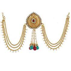 Anuradha Art Golden Colour Designer Studded Shimmering Stone Adjustable Kada Hand Bracelets for Women//Girls