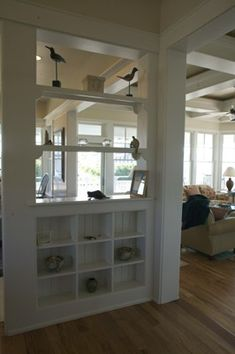 great room shelves | Shelf between Great room and Dining Room | For the Home