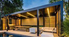 Patio cover, veranda or pergola? Canopy Outdoor, Outdoor Pergola, Pergola Kits, Outdoor Areas, Outdoor Rooms, Gazebo, Outdoor Living, Backyard Pool Designs, Patio Design
