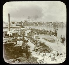 Dockyard,Cockatoo Island,in Sydney in c1910.Photo from Dictionary of Sydney.A♥W
