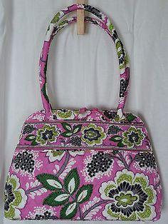 f6d1c94a0 VERA BRADLEY New Bowler Bag Prescilla Pink NWT Floral Zipper Handbag Purse  $86