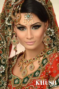 Striking wedding makeup by the talented Aimee Akbar  Bradford based, Nationwide coverage T: +44(0)7851 933 081 (By appointment only) W: AimeeAkbar.co.uk E: info@aimeeakbar.co.uk  Outfit: Seema Sarees Jewellery: NK Collection