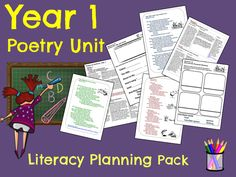 Year 1 Poetry Unit - Planning Pack