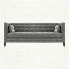 Clancy Grand Sofa   Inspired by Old Hollywood, Clancy's clean, angular lines bring a modern twist to your design stage.