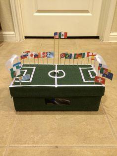 Soccer Valentine's box idea