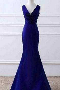 Prom Dresses, Mermaid Prom Dresses, Royal Blue Prom Dress, Long Prom Dresses, Royal Blue Evening Gowns , Evening Dresses , Prom Party Dress, Wedding Party Dresses, Prom Dresses, Custom Made