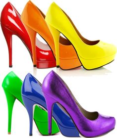 A fashion look from April 2013 featuring heel pump, round toe pumps and orange pumps. Browse and shop related looks. Rainbow Magic, Love Rainbow, Taste The Rainbow, Over The Rainbow, Rainbow Colors In Order, Rainbow Stuff, World Of Color, Color Of Life, Rainbow Shoes