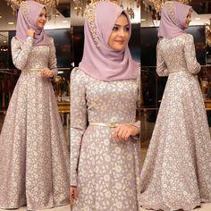 Image may contain: 3 people Modern Hijab Fashion, Islamic Fashion, Abaya Fashion, Muslim Fashion, Fashion Dresses, Muslimah Wedding Dress, Muslim Wedding Dresses, Muslim Dress, Trendy Dresses