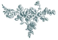 *The Graphics Fairy LLC*: Antique Graphic Engravings - French Roses (Click thru for numerous free beautiful engravings in multiple colors) Desenho Tattoo, Graphics Fairy, Vintage Ephemera, Beautiful Tattoos, Body Art Tattoos, Tatoos, Flower Tattoos, Vintage Flowers, Vintage Floral