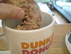 """Dunking doughnuts rose to popularity in 1934, after Clark Gable did it in """"It Happened One Night."""" But rumor has it that the first dunk took place in a New York City deli, when actress Mae Murray accidentally dropped her fresh doughnut into her cup of steaming coffee."""