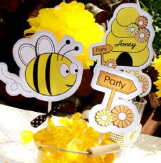 Bee party printables