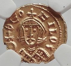 BASIL I & Constantine 870AD Ancient JESUS CHRIST Gold Byzantine Coin NGC i64231
