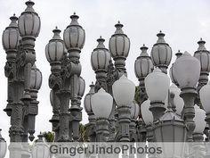 "Lights VII. Original Fine Art Photograph-8"" x 10""-Archival Photo Paper-MATTED-White-Grey-Black-Blue-Paris-Moody-Street Lights-Street Lamps"