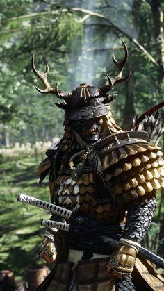 Japanese Art Samurai, Japanese Warrior, Fantasy Armor, Dark Fantasy, Samurai Mask Tattoo, Samurai Wallpaper, Arte Ninja, Samurai Artwork, Ju Jitsu