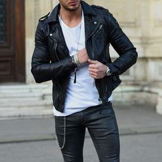 Simplr • Instagrammer philippegazarstyle in a black leather...