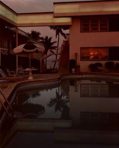 "loverofbeauty: "" Joel Meyerowitz: Pool, Dusk, Sun in Window, Florida (1978) """