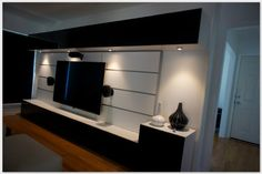 Ikea Hack: Entertainment Wall Unit - would be perfect if wasnt so long & an extra rise near TV