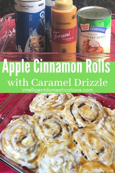 Make this easy recipe for Apple Cinnamon Rolls with only three ingredients. Start with Pillsbury Grands Cinnamon Rolls for a nice recipe cheat you will want to use again and again. Photos included in the post so you can see how I stuff the apples in to make these cinnamon rolls taste almost like apple fritters. More similar recipe cheats included in the post. #fallflavors #appledessert #sweetrolls #recipecheat Pillsbury Cinnamon Rolls, Apple Cinnamon Rolls, Pillsbury Recipes, Cinnamon Apples, Caramel Apples, Kraft Recipes, Apple Recipes, Fall Recipes, Friend Recipe