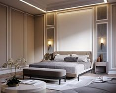 Pin Mohsin Ali On Bedroom Design Bedroom Decor Modern Classic intended for proportions 1240 X 992 Modern Classic Bedroom Design - If you've got visited a number of different houses […] Modern Classic Bedroom, Modern Master Bedroom, Classic Interior, Master Bedroom Design, Master Bedrooms, Trendy Bedroom, Contemporary Bedroom, Bedroom Designs, 1 Bedroom Apartment