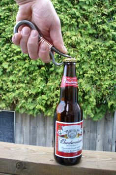 FORGED BOTTLE OPENER Hand forged and Signed by Blacksmith Naz , Groomsmen gift , Gifts for him , Gifts for Grooms on Etsy, $25.00