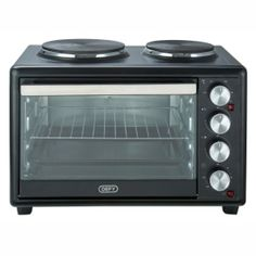 oven with solid plates Both plates and oven can be used simultaneously Grill and bake function 3200 Watt 2 year warranty Convection Oven Cooking, Cooking Stove, Cooking Appliances, Small Appliances, Stainless Steel Door Handles, Oven Canning, Appliance Sale, Mini Kitchen