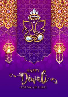 Illustration about Happy Diwali festival card with gold diya patterned and crystals on paper color Background. Illustration of chaturthi, greeting, creative - 119160439 Happy Diwali Cards, Happy Diwali Pictures, Happy Diwali Wishes Images, Diwali Greetings, Happy Diwali Poster, Diwali Crackers, Wedding Card Design Indian, Diwali Photography, Diwali Festival Of Lights