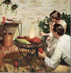 vintage family barbecue - Bing Images