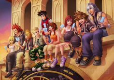 Kingdom Hearts- I always loved watching them eat ice cream every day. Love this so much! <3
