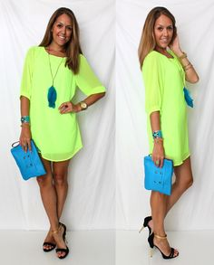 Neon! This site has the cutest outfits   She has links posted of where you can find most of her clothes and it's all within a reasonable budget.