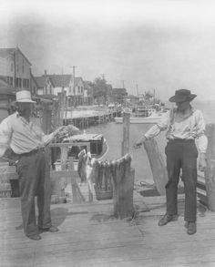 June 12, 1935.  Bowers Beach, Delaware.  String of trout.  From Board of Agriculture collection at the Delaware Public Archives.  www.archives.delaware.gov