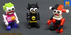 https://flic.kr/p/28doNmy | LEGO TINY BATMAN JOKER HARLEY | Tiny brick figures of Batman, Joker and Harley Quinn. I built these figures last year in order to produce building instructions videos for my youtube channel but they failed badly in their mission, so I stopped there. But you can see the videos for Batman, Joker and Poison Ivy here: www.youtube.com/user/witchbaron/videos?view_as=subscriber... There were a few more models (Harley, Penguin, Catwoman, Mr Freeze, Killer Croc)