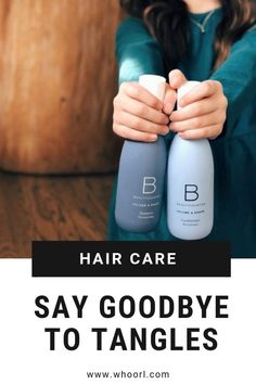 This shampoo and conditioner has changed our lives. Hair brushing is no longer a thing that I dread.  The time and sanity saved is priceless. #beauty #hair #beautycounter