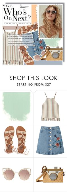 """""""Soft Indie"""" by anne-mclayne ❤ liked on Polyvore featuring Miguelina, Billabong, Miss Selfridge, MANGO and Charlotte Olympia"""