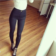 Slim Jeans For Women Skinny High Waist Jeans Woman Blue Denim Pencil Pants Stretch Waist Women Jeans Black Pants