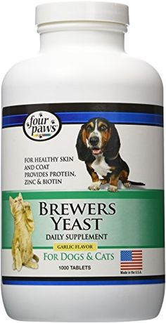 Four Paws Brewers Yeast Garlic Flavored Dog and Cat Tablets , 1000 Count