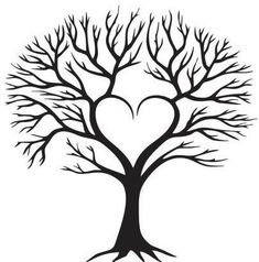Family tree of the heart - Moja strona http: //jardinier.ml/arbre-genealogique-du-coeur-moja . Family Tree Drawing, Family Tree Art, Family Tree Paintings, Tree Of Life Painting, Tree Clipart, Tree Svg, Tree Templates, Printable Templates, Tree Stencil