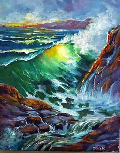 Breakers and Rocks  (PART2)  What happens if you decided to change a painting after you finish it. Here is how.  copy and  follow this link  :http://gingercooklive.gallery/not-a-member/