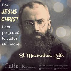 Maximilian Kolbe: Mary's Martyr for Christ Catholic Confirmation, Catholic Saints, Patron Saints, Roman Catholic, Catholic Store, Catholic Company, Francis Of Assisi, St Francis, Inspirational Catholic Quotes